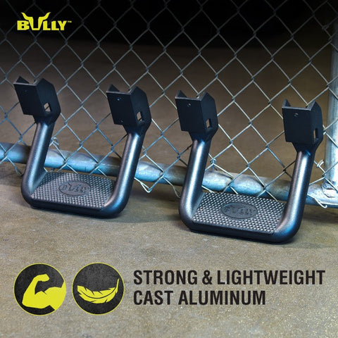 BULLY BBS-1103 Aluminum Black Side Step - Pair