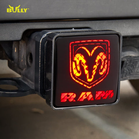BULLY CR-007D Licensed RAM Hitch Cover with Brake Light