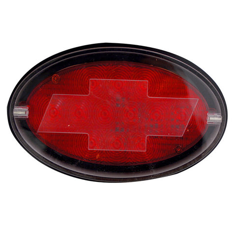BULLY CR-017C Licensed Chevrolet Oval Hitch Cover with Brake Light