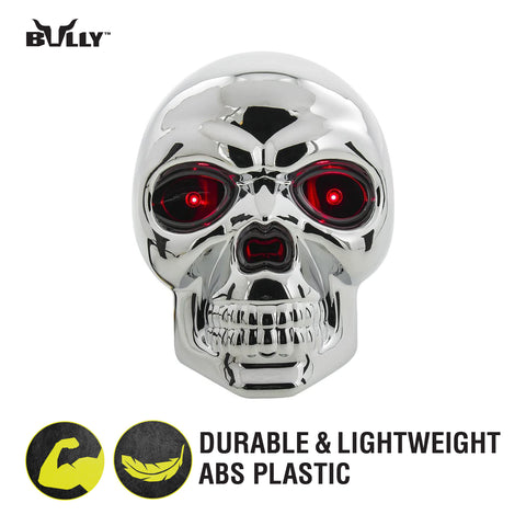 BULLY CR-018 Skull Hitch Cover with Brake Light