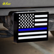 BULLY CR-765B First Responders Blue Line Hitch Cover