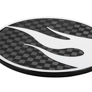Hot Wheels HOT-0003 Round Carbon Fiber Emblem