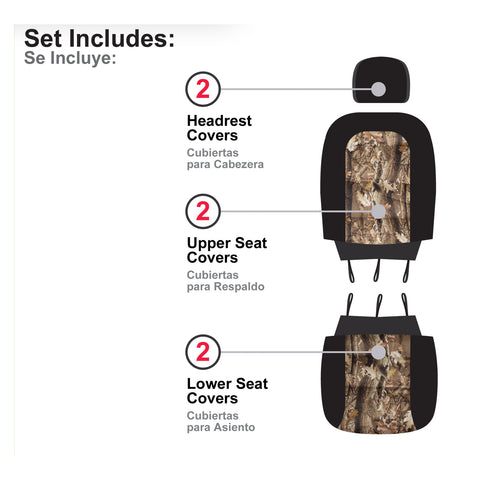 BULLY SCT-445CA Camo Low Back Seat Cover