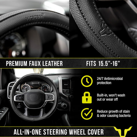 Bully Shadow Steering Wheel Cover with Microban SWT-2000