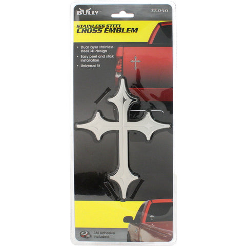 BULLY TT-090 Dual Layer Stainless Steel Cross Emblem