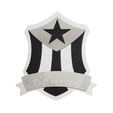 BULLY TT-134 Boricua Stainless Steel Emblem