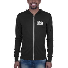 Load image into Gallery viewer, Unisex zip hoodie (Charcoal Black)