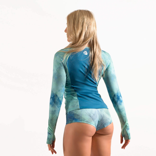 blue rash guard