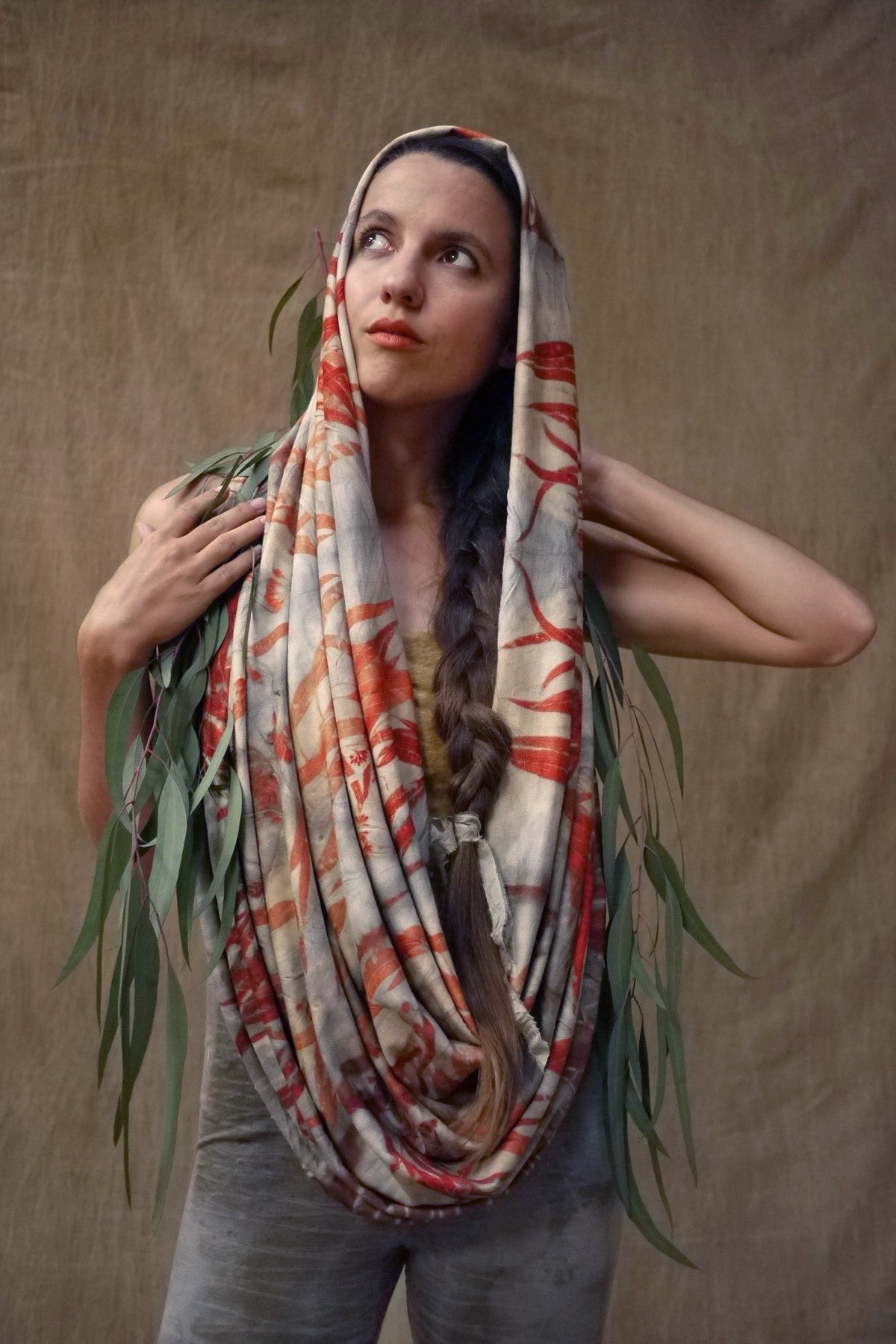 Woodswalker Scarf in Smoke&Flame