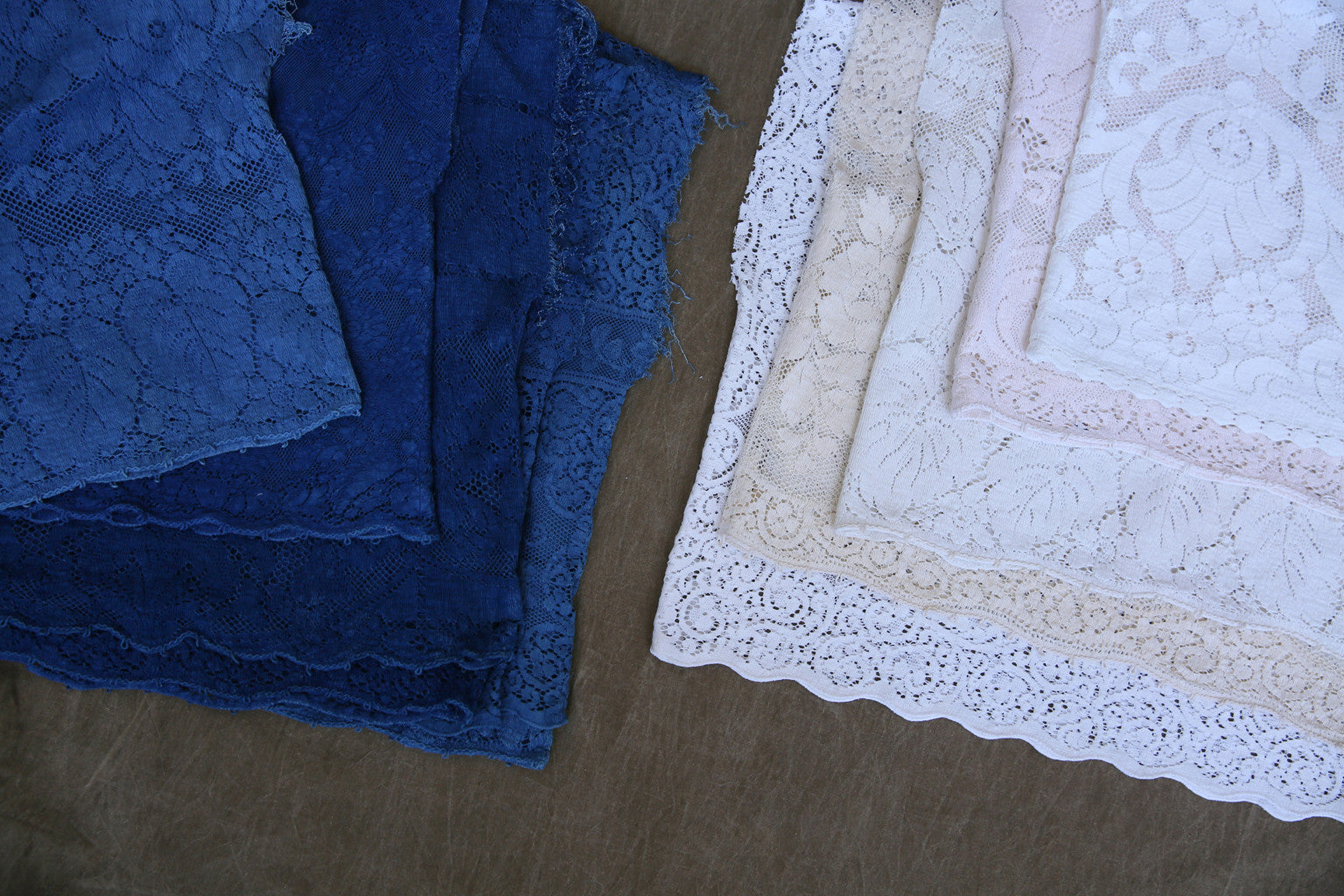 Lace Cloud Top in Light Indigo
