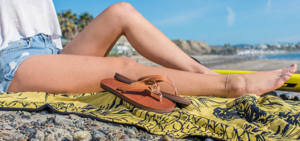 luxury leather collection rainbow sandals