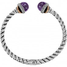 Load image into Gallery viewer, Neptune's Rings Amethyst Open Hinged Bangle