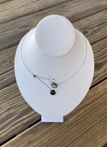 Kristina Black and Grey Combo Necklace