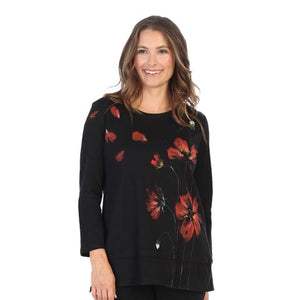 Jess & Jane Printed Poppies Tunic