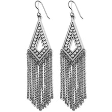 Load image into Gallery viewer, Pebble Disc Fringe French Wire Earrings