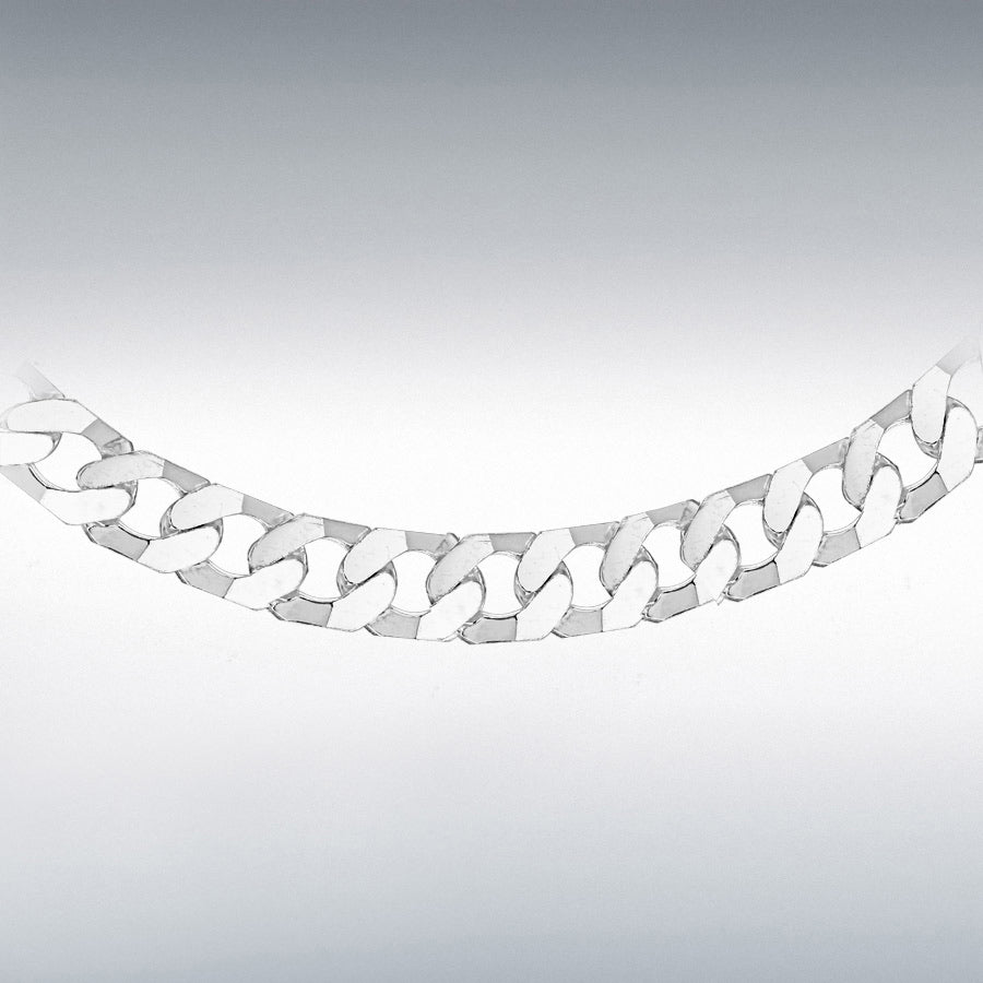 STERLING SILVER 220 FLAT SQUARE-LINK CURB CHAIN 51CM/20""
