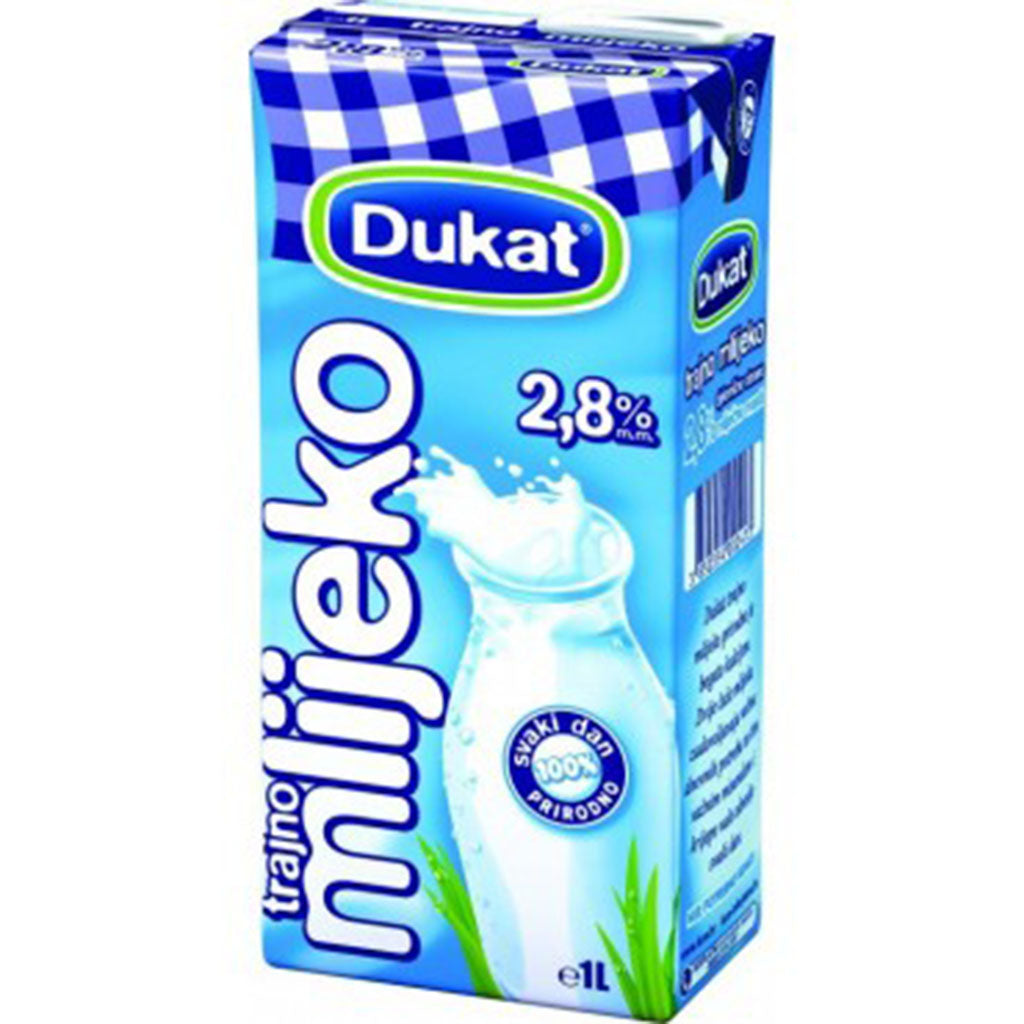 aga>Long Life Milk  Whole 2,8% 1L Dukat