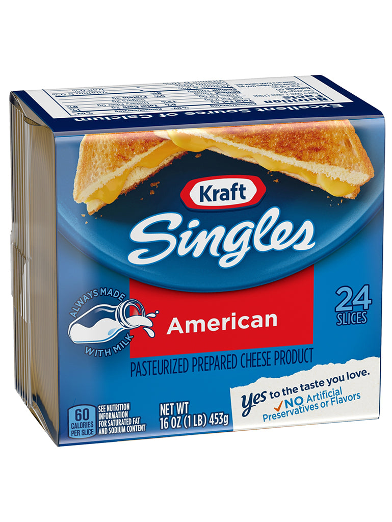 stm>Kraft American Singles Cheese, 24 slices