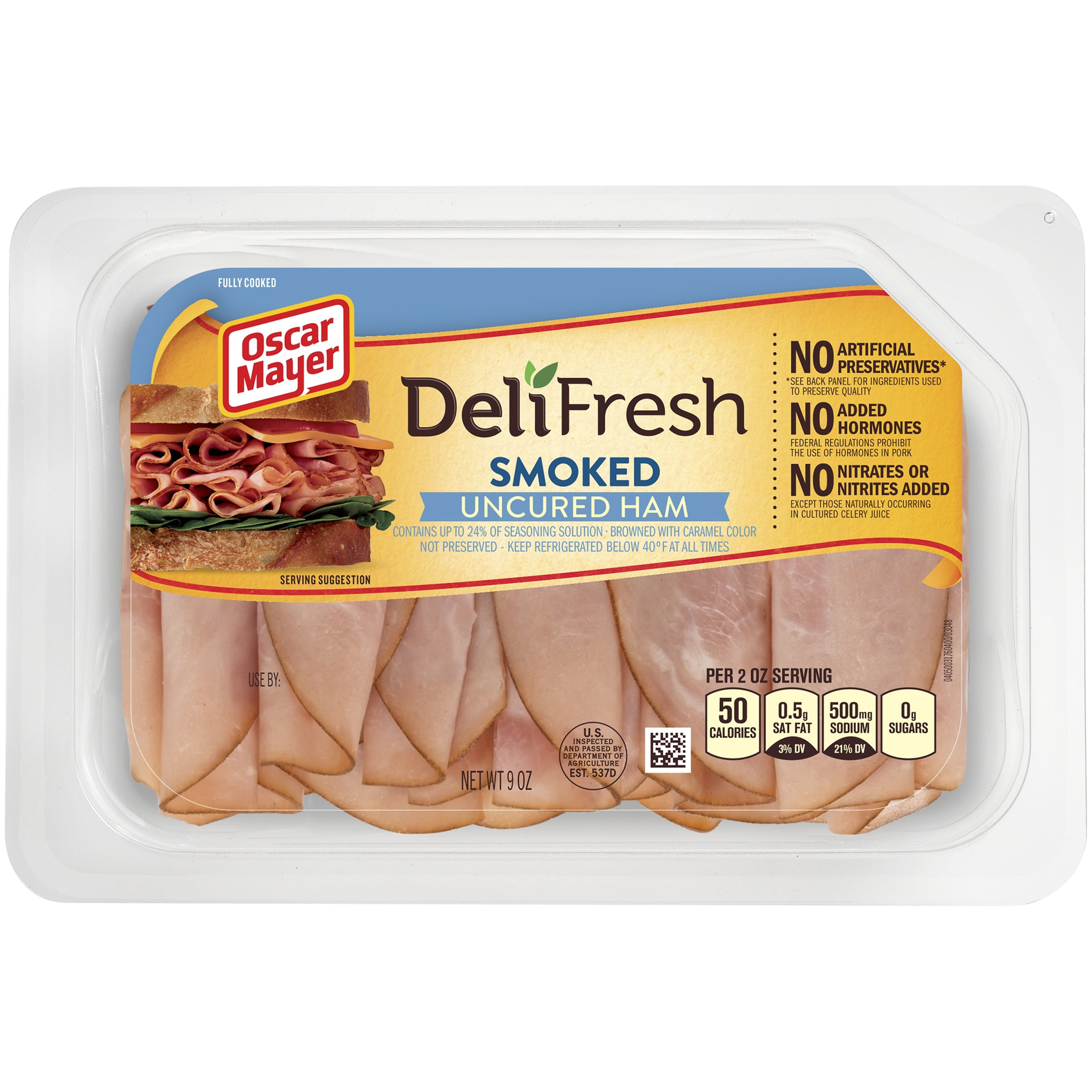 stm>Oscar Mayer Deli Shaved Ham, sliced 9oz