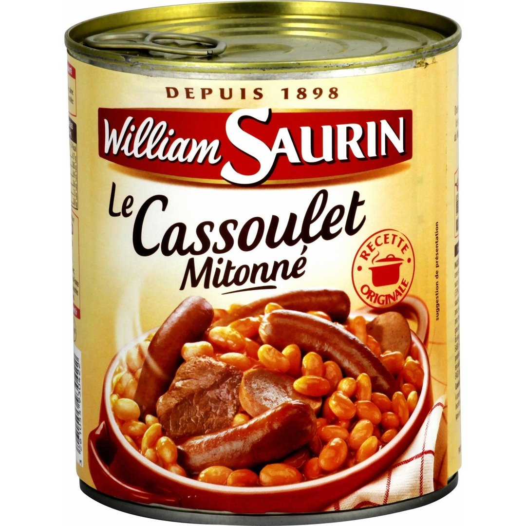 stm>William Saurin Cassoulet, 2 pers 840gr, can