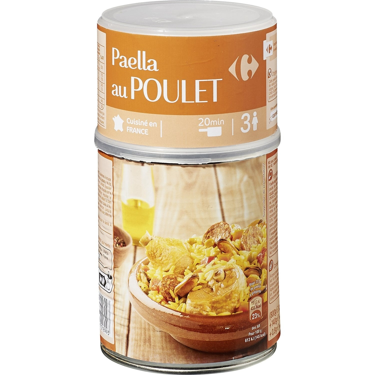 stm>Paella, Carrefour, 3 pers 940gr, can