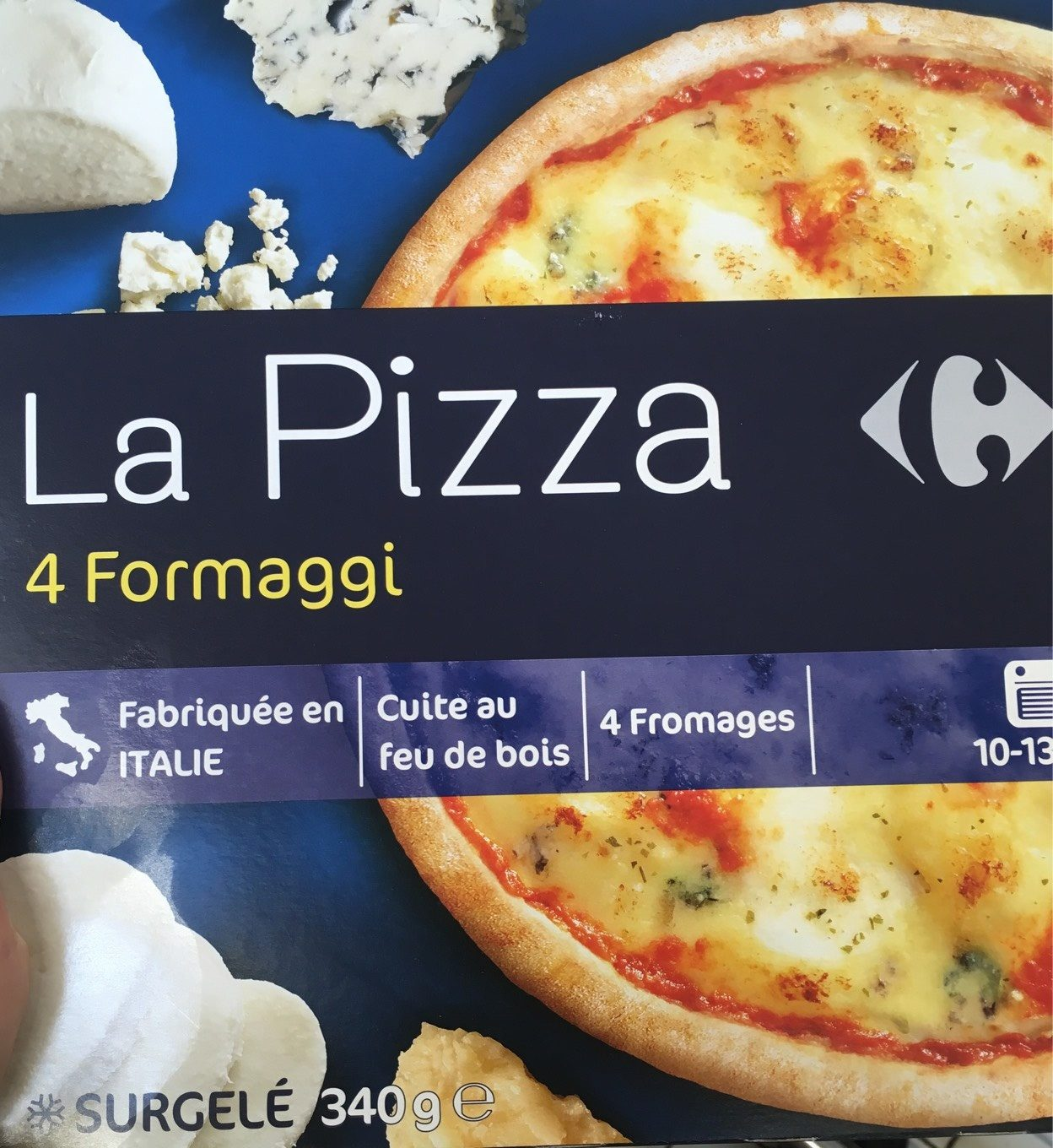stm>Pizza Four Cheese, Carrefour, Organic 350gr, 10 oz