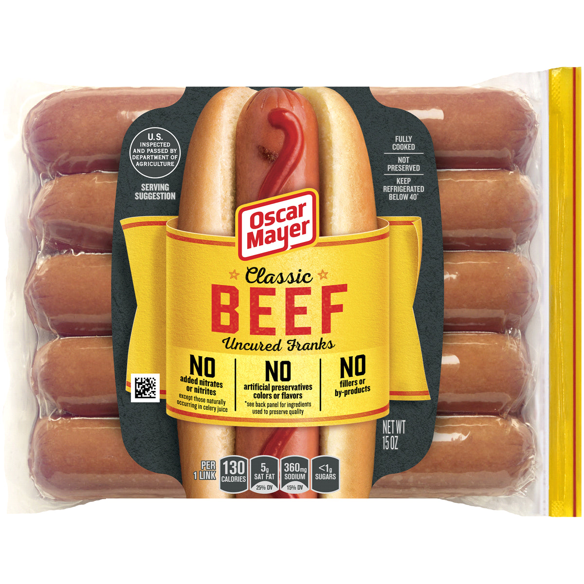 gre>Hot Dogs -10 Pack - Beef Oscar Mayer - 15oz