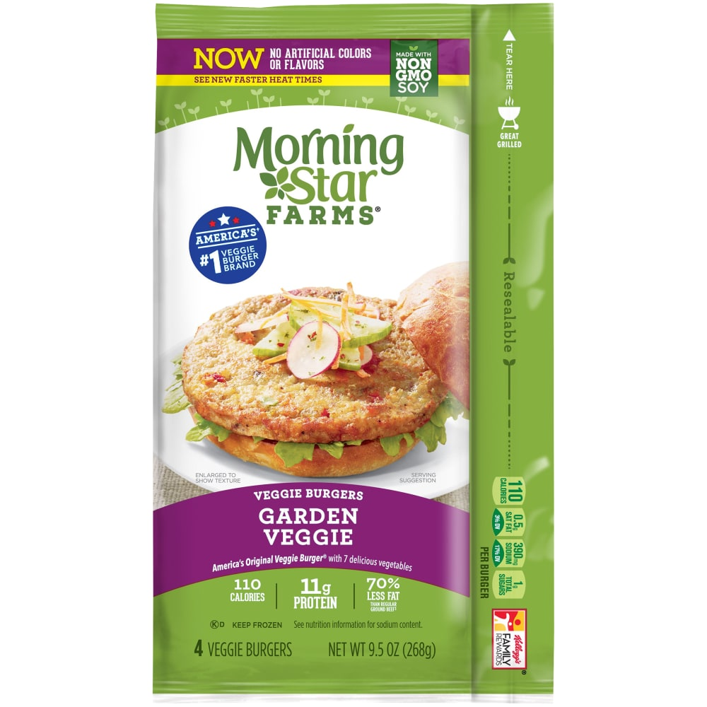 gre>Veggie Burgers 4 Pack - Morning Star - per packet