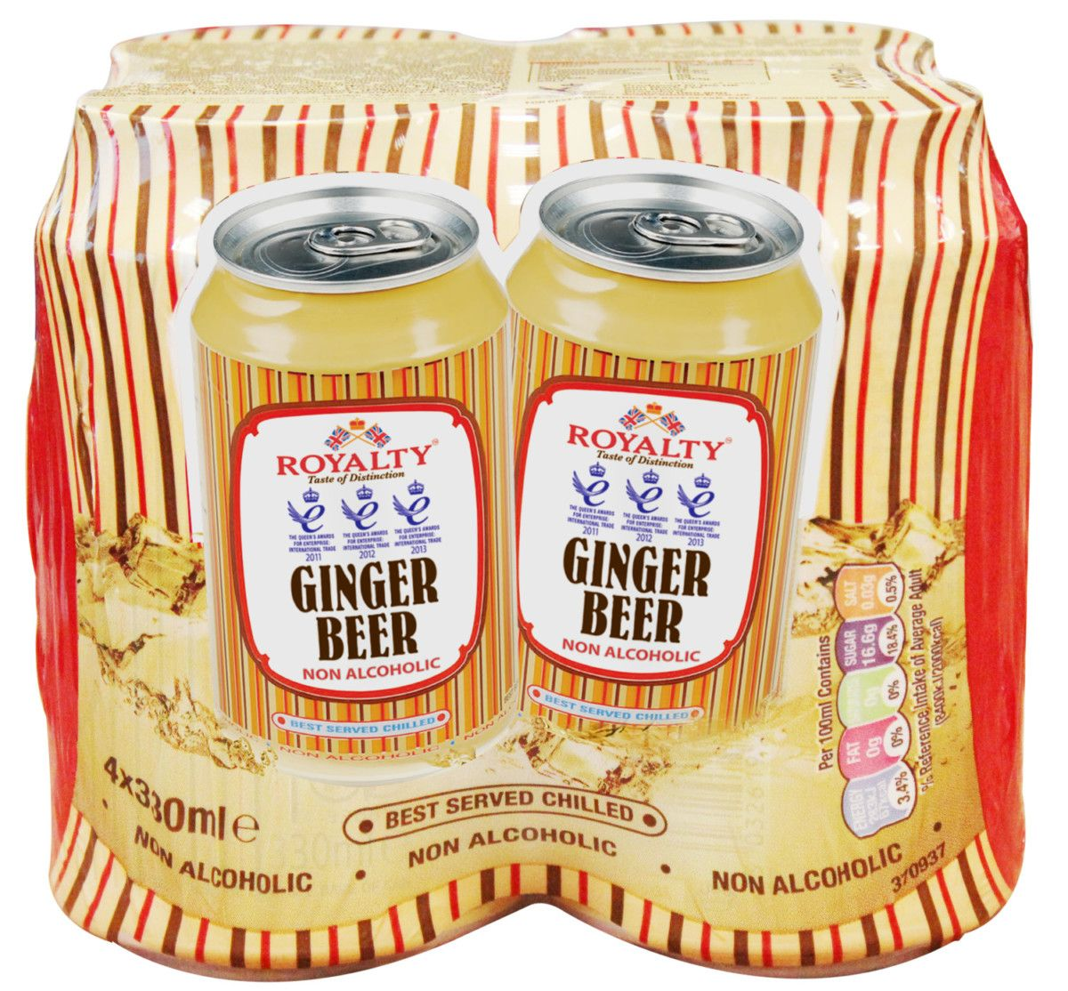 gre>Royalty Ginger Beer - 4 Pack - cans