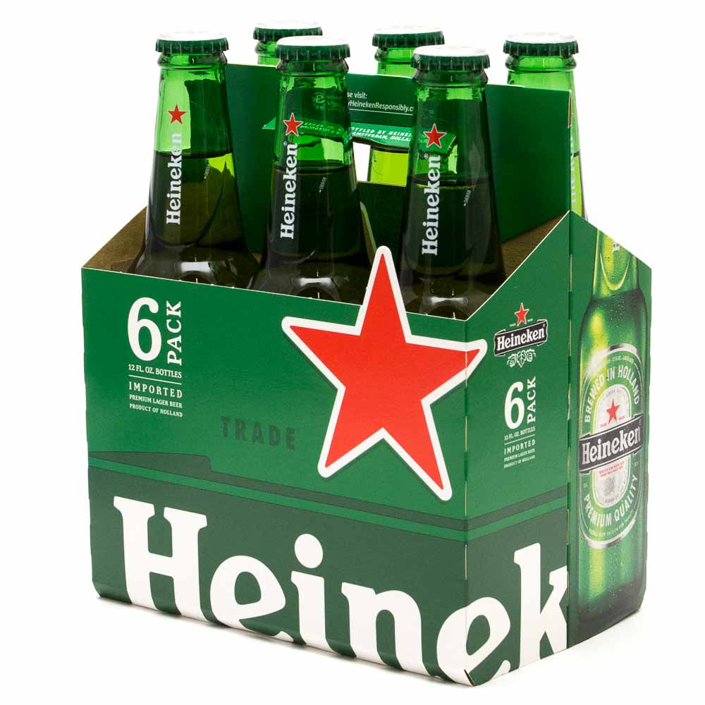 gre>Heineken bottles - 6 Pack