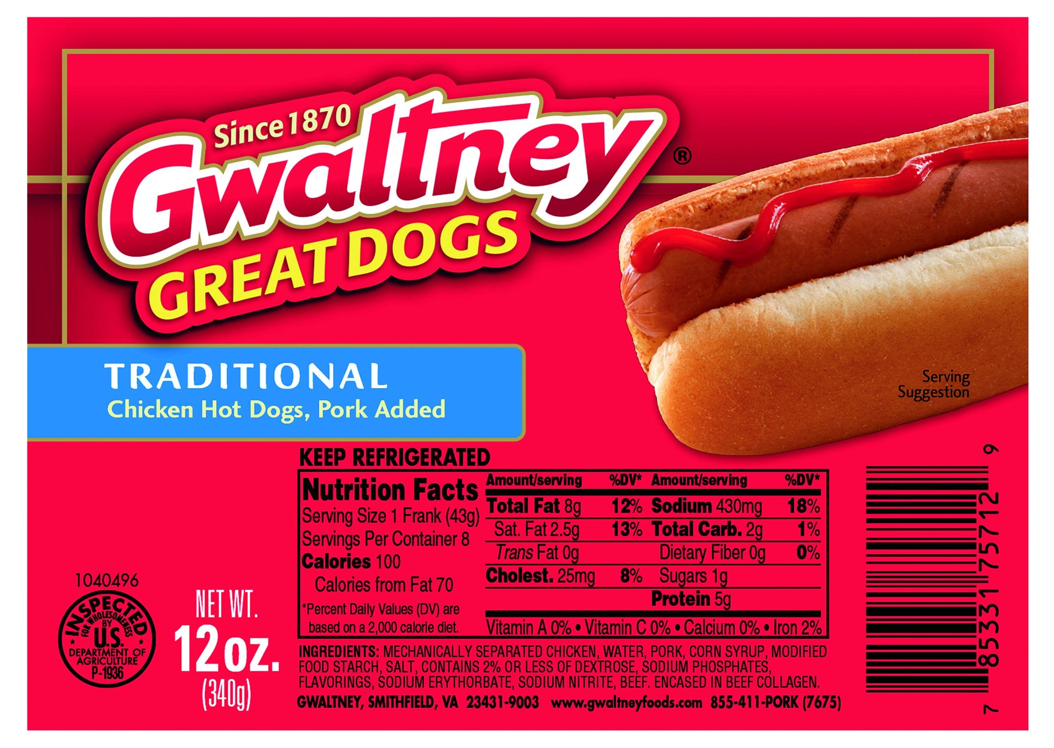 bel>Gwaltney hotdogs