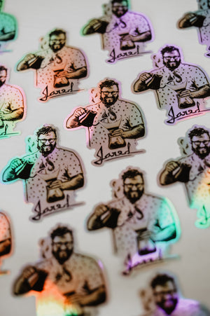 Hologram Die-cut Jared Sticker