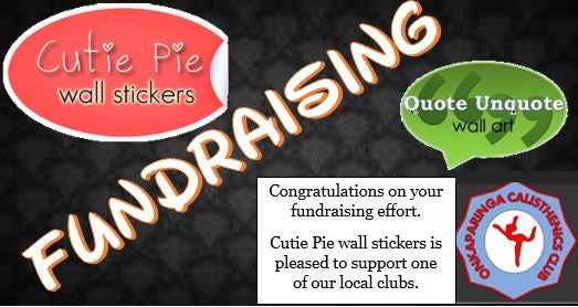 Fundraising with Cutie Pie wall stickers