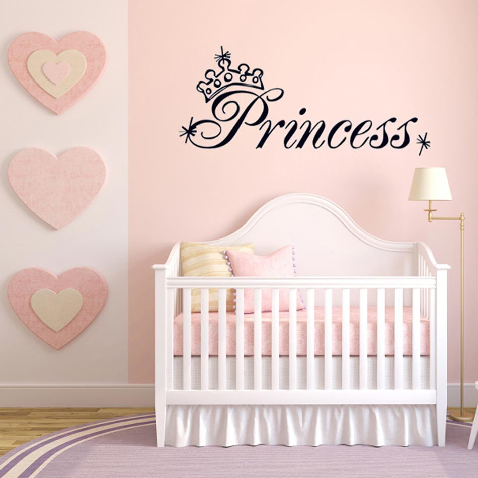 Princess wall stickers cutie pie wall stickers princess quote amipublicfo Image collections