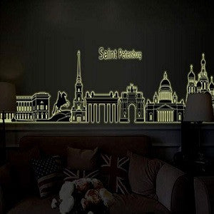 Saint Petersburg silhouette - glow in the dark