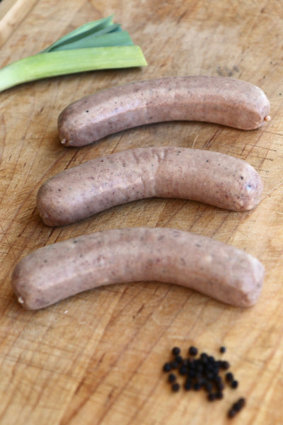 Randall Lineback Beef Sausages: Butifarra and Leek Recipe