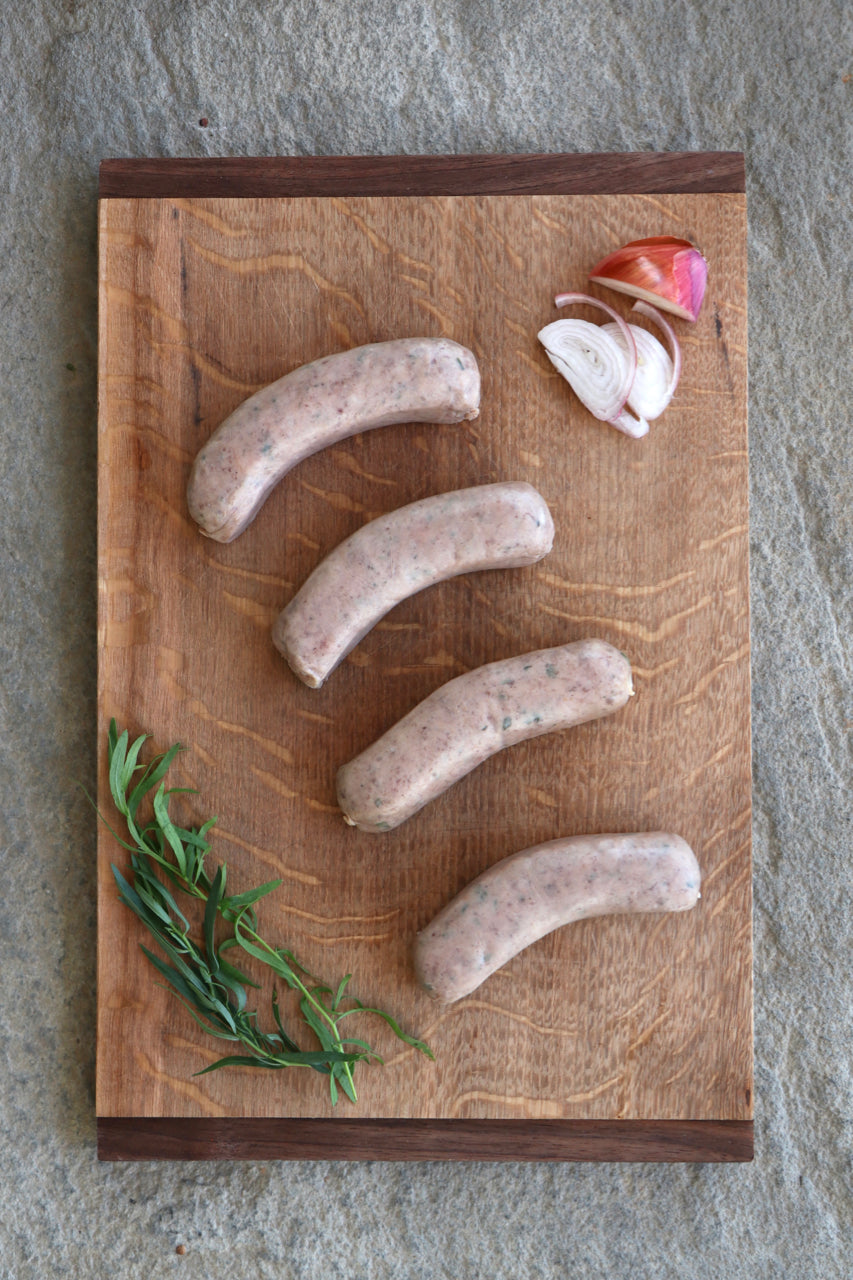 Randall Lineback Beef Sausages: French Country