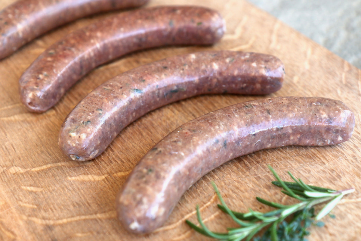 Randall Lineback Beef Sausages: Spicy Rosemary