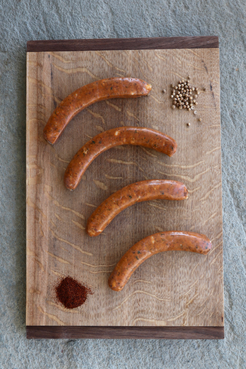 Randall Lineback Beef Sausages: Spicy Lamb & Beef Merguez
