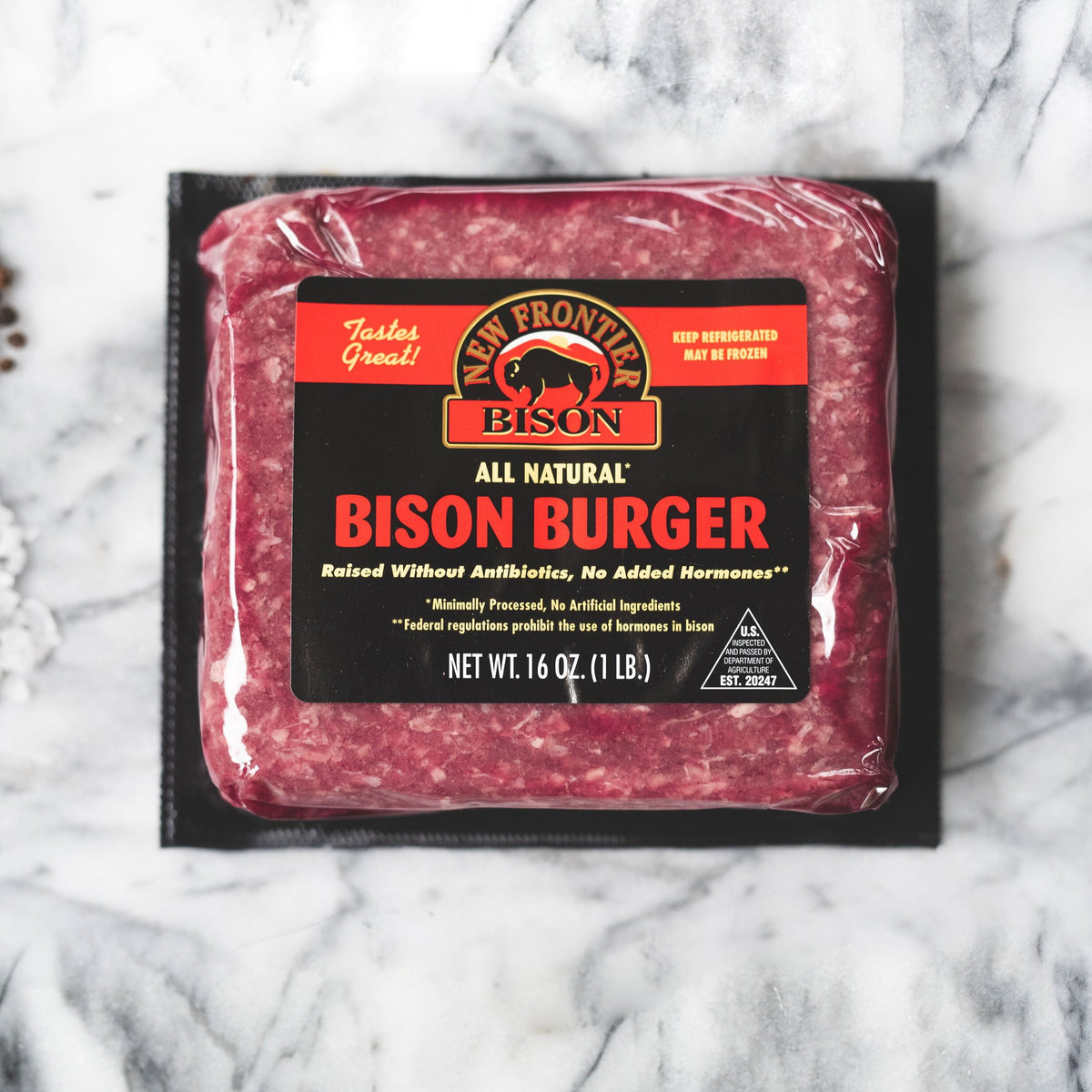 New Frontier Bison's Ground Bison - 1lb Pack