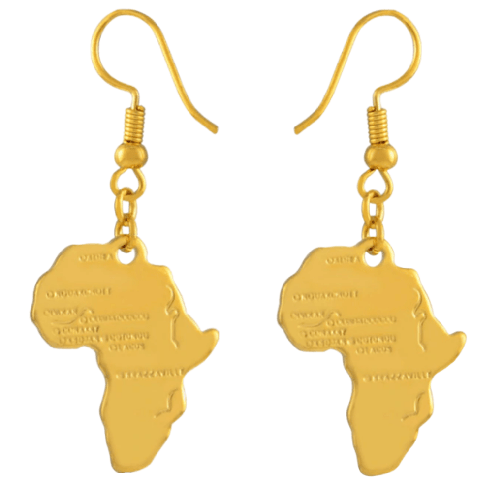 Ancient Africa Earrings - 18K Gold Plated