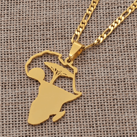 The Tree of Life in Africa Necklace - 18K Gold Plated