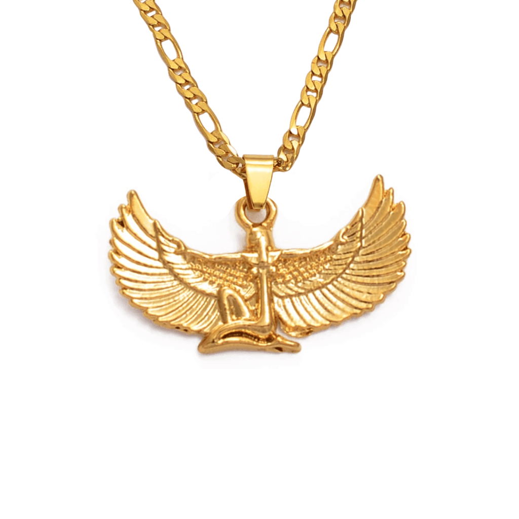 Egyptian Goddess Isis Necklace - 18K Gold Plated