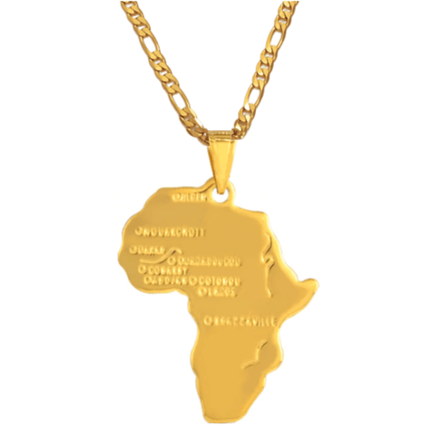Ancient Africa Necklace - 18K Gold Plated