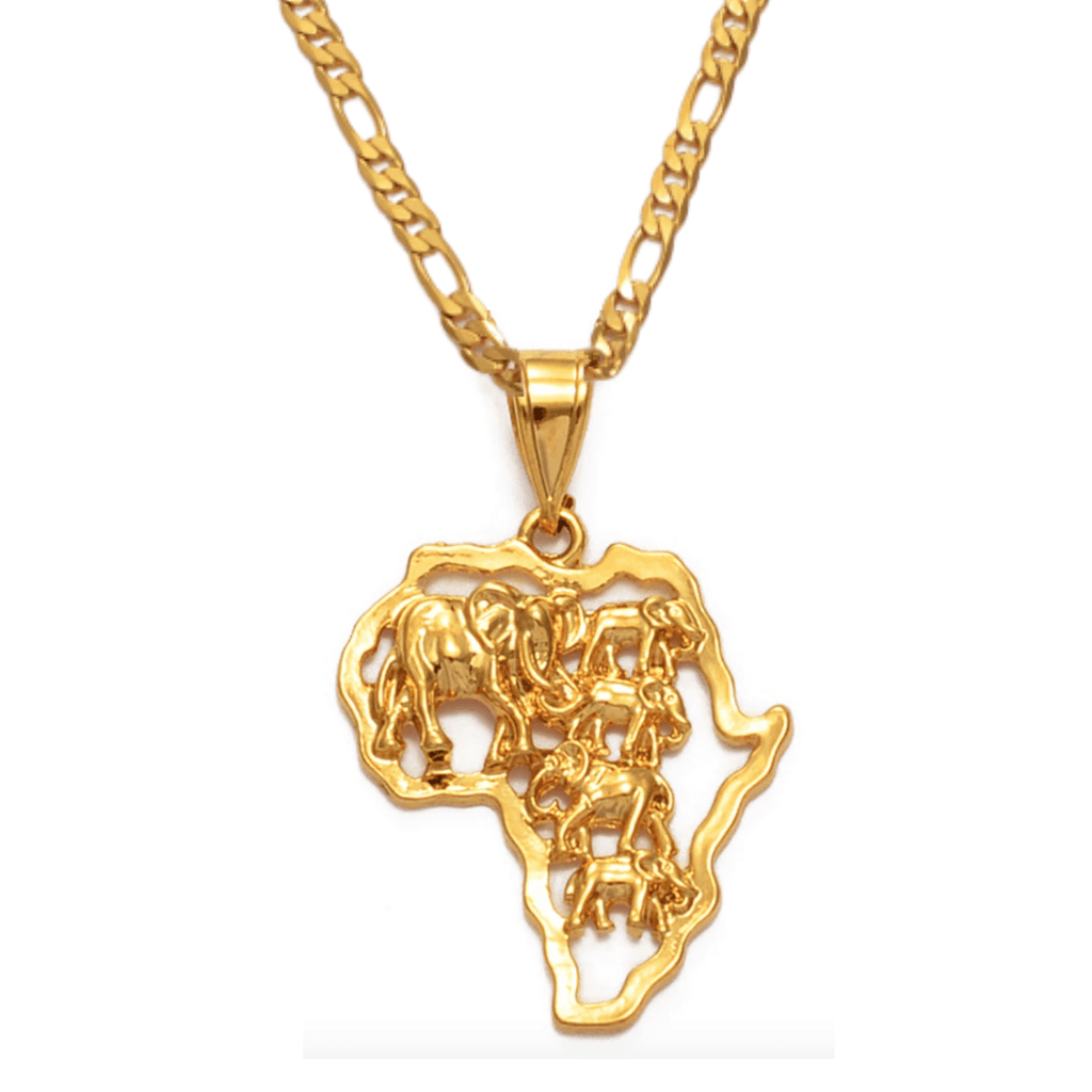 Tribe of Golden Elephants Necklace - 18K Gold Plated