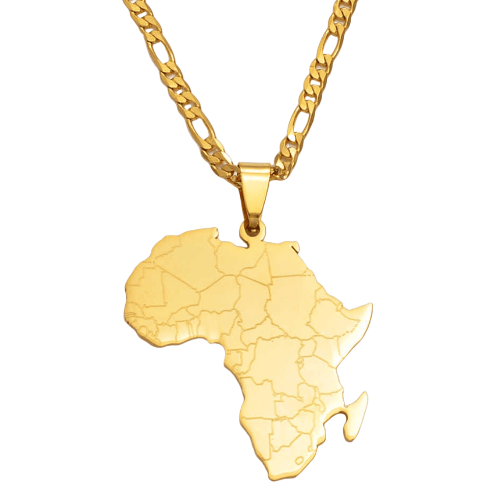[Flash Sale] African Map Necklace - 18K Gold Plated