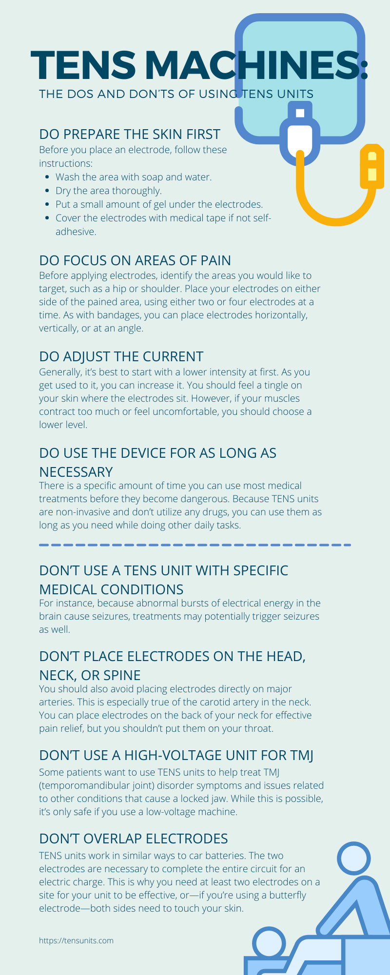 electrotherapy infographic