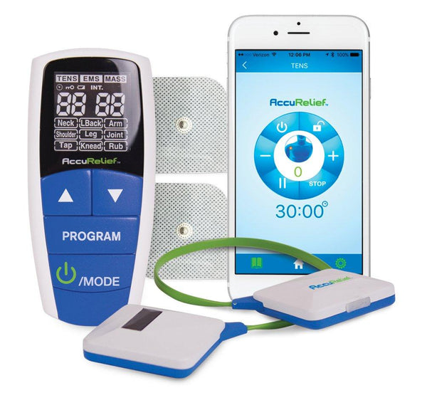 AccuRelief Wireless Pain Relief Device With Remote and Mobile App - Tens Units