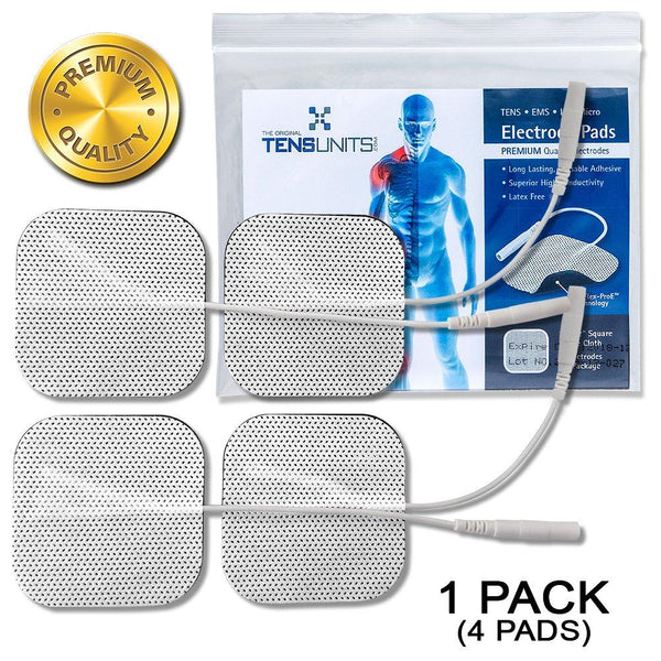 "Premium 2"" x 2"" Square White Cloth Electrodes In Poly Bag"