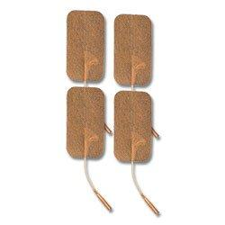 "2"" x 3.5"" Tan Cloth Rectangle EMS & TENS Electrode Pad - 4 Pack - Tens Units"